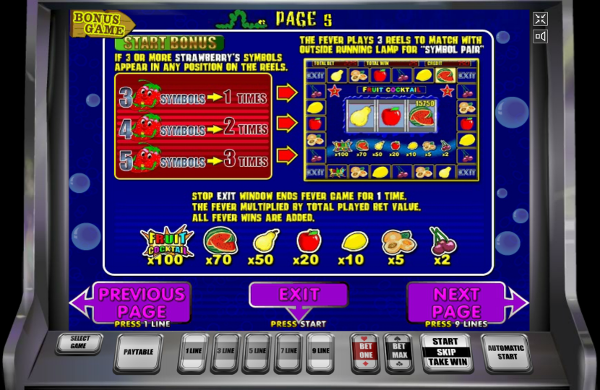 Игровой автомат Fruit Cocktail - хорошие бонусы и постоянные выигрыши для игроков казино Вулкан