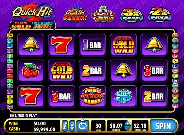 Игровой автомат Quick Hit Black Gold - чистейшее золото игрокам казино Суперслотс