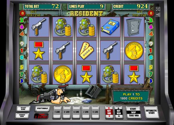 Игровой автомат Resident - почувствуй себя шпионом в казино Вулкан