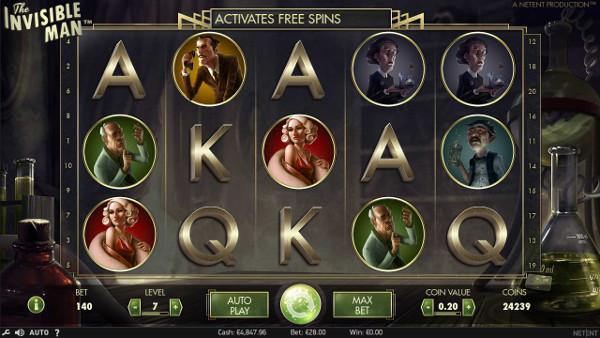 Игровой автомат The Invisible Man - бесплатно слот попробуй в казино Вулкан онлайн